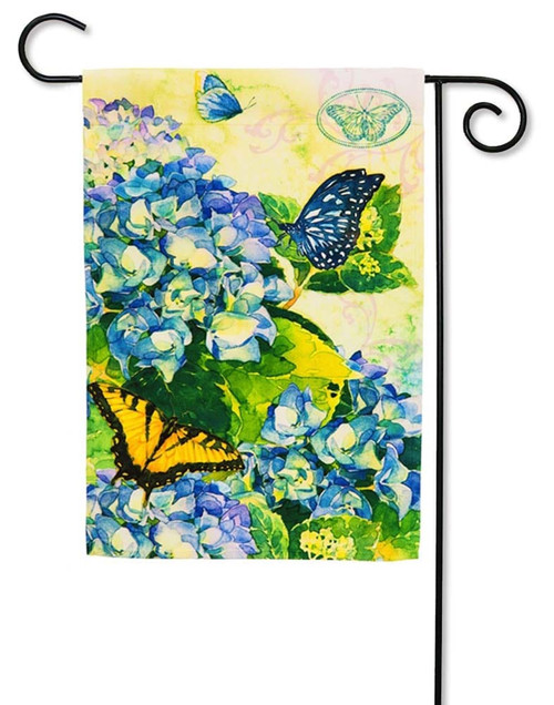 "Hydrangea Bloom Garden  Flag - 12.5"" x 18"" - Evergreen"