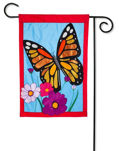 "Butterfly Applique Garden Flag - 12.5"" x 18"" - Evergreen"
