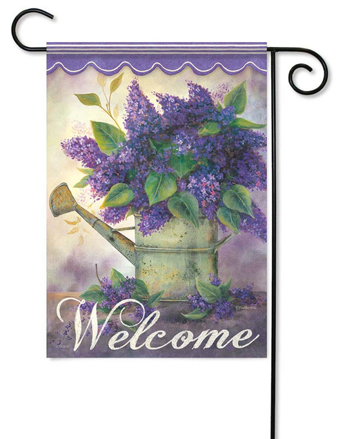 "Lovely Lilacs Garden Flag - 12.5"" x 18"" - Flag Trends - 2 Sided Message"