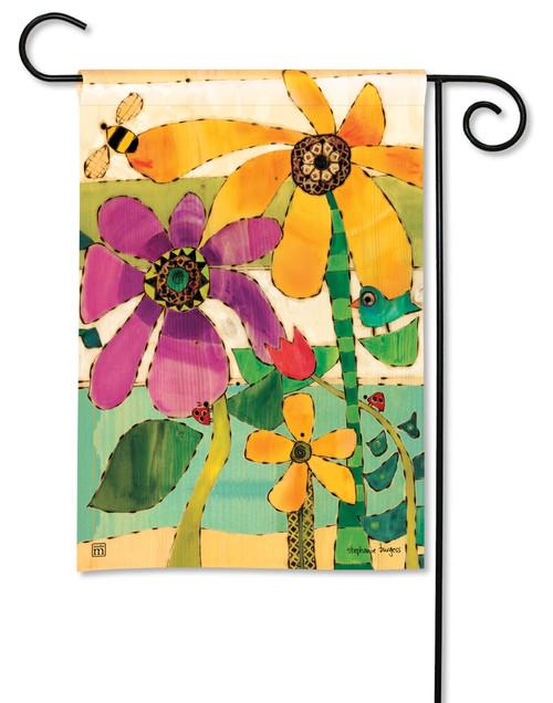 """Flower Garden Summer Garden Flag - 12.5"""" x 18"""" - BreezeArt"""