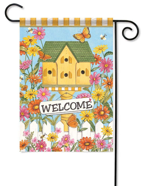 "Country Birdhouse Garden Flag - 12.5"" x 18"" - Flag Trends - 2 Sided Message"