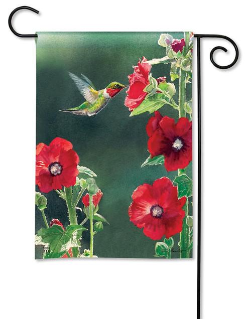 "Hummingbird Delight Decorative Garden Flag - 12.5"" x 18"" - BreezeArt"
