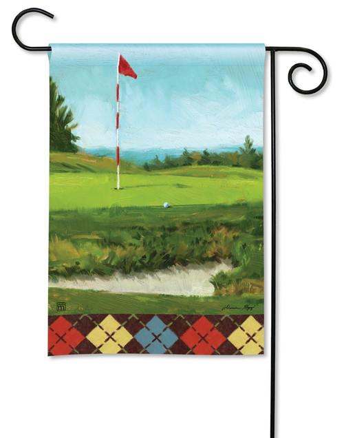 """On the Green Summer Garden Flag - 12.5"""" x 18"""" - BreezeArt"""