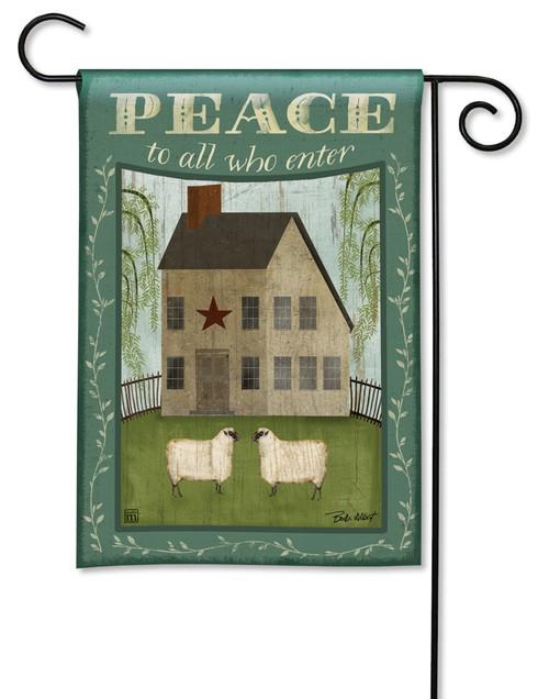 "Peace to All Decorative Garden Flag - 12.5"" x 18"" - BreezeArt"