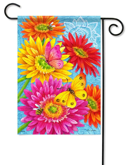 "Daisy Delight Garden Flag - 12.5"" x 18"" - Flag Trends - 2 Sided Message"