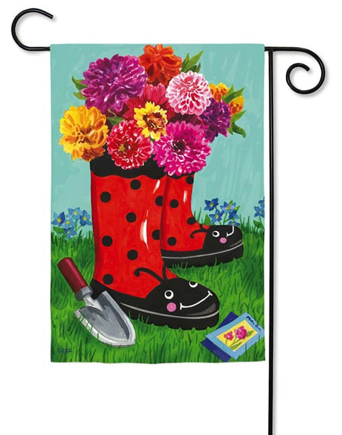 "Garden Boots Decorative Garden Flag - 12.5"" x 18"" - Evergreen"