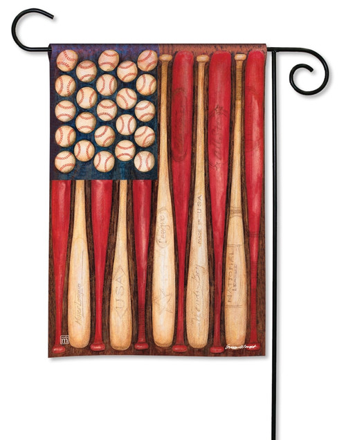 "Baseball Season Summer Garden Flag - 12.5"" x 18"" - BreezeArt"