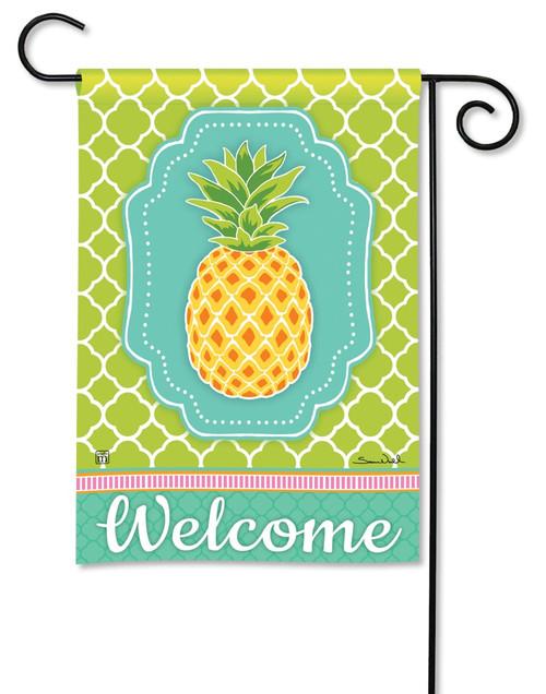 "Preppy Pineapple Garden Flag - 12.5"" x 18"" - BreezeArt"