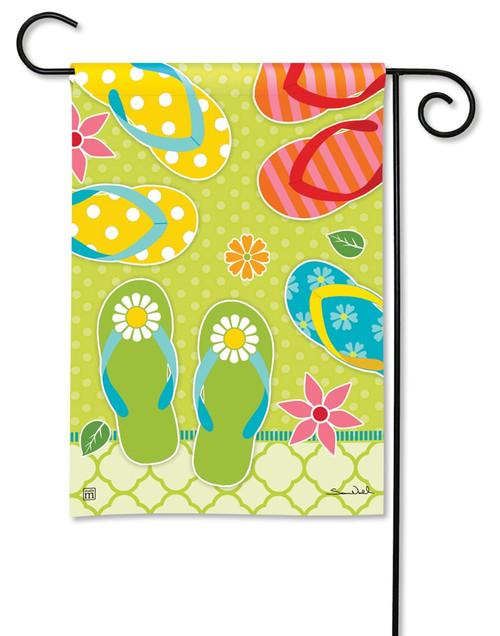 """Hello Summer Decorative Garden Flag - 12.5"""" x 18"""" - BreezeArt"""