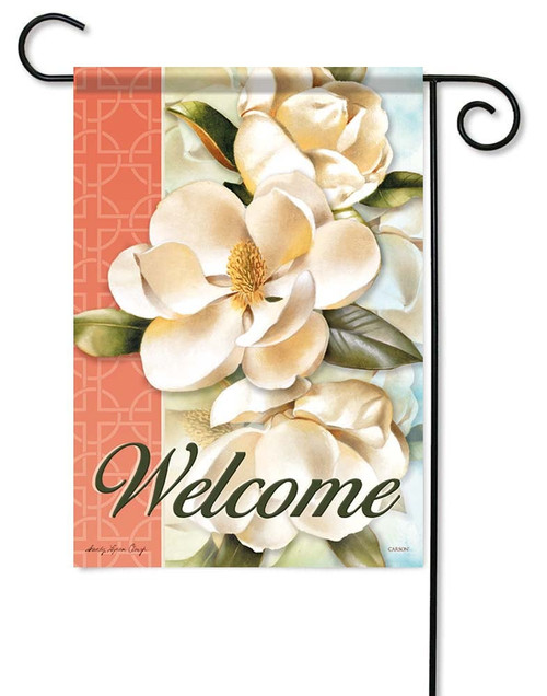 "Magnolia Bliss Garden Flag - 12.5"" x 18"" - Flag Trends - 2 Sided Message"