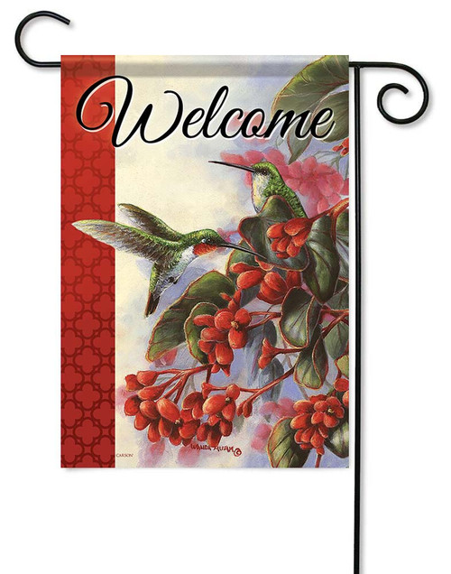 "Ruby Pair Garden Flag - 12.5"" x 18"" - Flag Trends - 2 Sided Message"