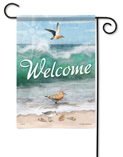 "Red Knots Garden Flag - 12.5"" x 18"" - Flag Trends - 2 Sided Message"