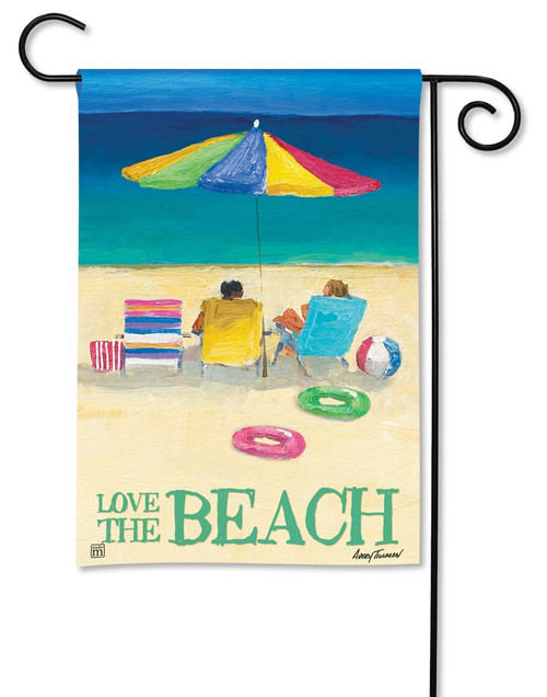 "Love the Beach Summer Garden Flag - 12.5"" x 18"" - BreezeArt"