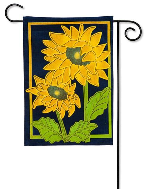 Sunflower Afternoon Burlap Garden Flag