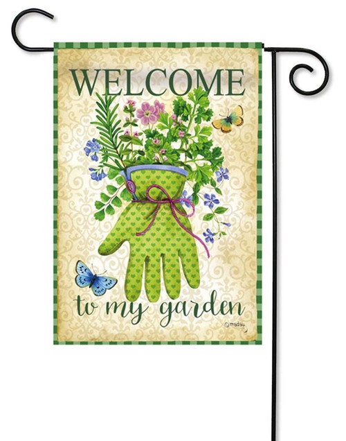 "Herb Garden Decorative Garden Flag - 12.5"" x 18"" - 2 Sided Message - Evergreen"