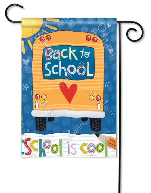 "School is Cool Decorative Garden Flag - 12.5"" x 18"" - BreezeArt"