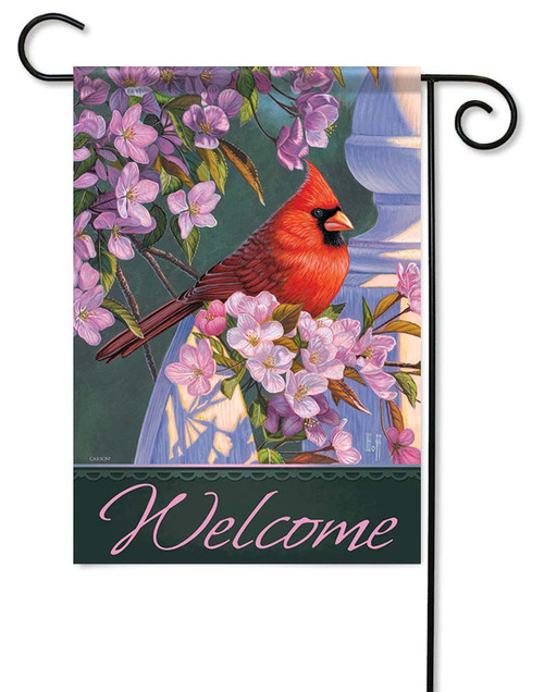 "Evening Light Card Garden Flag - 12.5"" x 18"" - Flag Trends - 2 Sided Message"