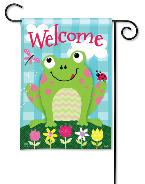 "Happy Frog Summer Garden Flag - 12.5"" x 18"" - BreezeArt"