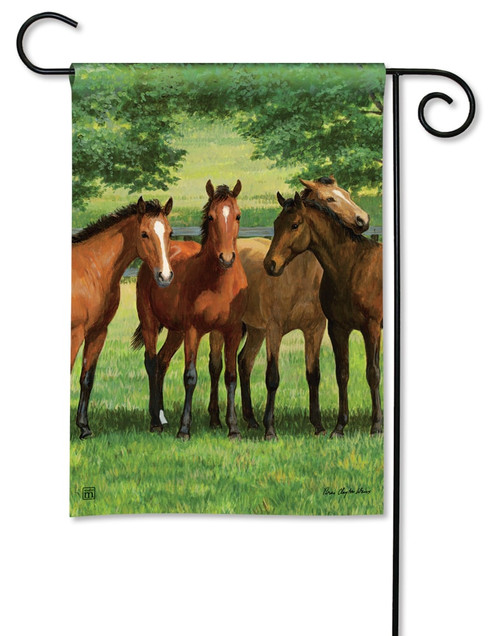 "Grazing Time Garden Flag - 12.5"" x 18"" - BreezeArt"