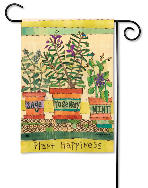 """Herb Garden Summer Garden Flag - 12.5"""" x 18"""" - BreezeArt"""