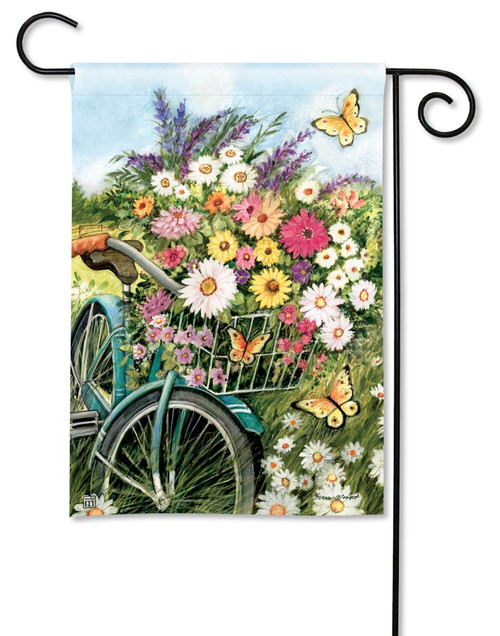 "Morning Ride Summer Garden Flag - 12.5"" x 18"" - BreezeArt"