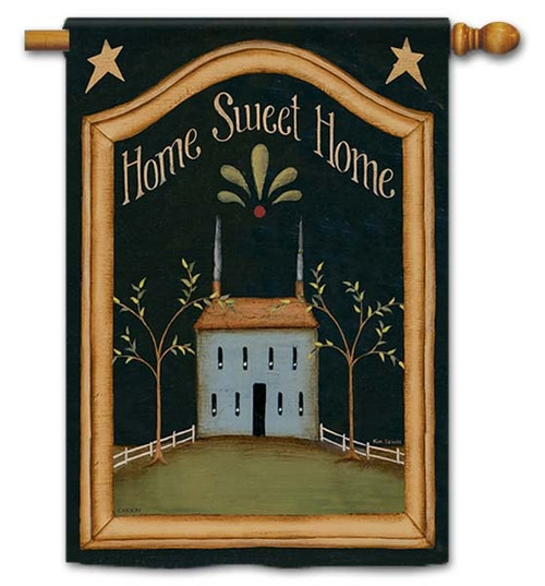 "Home Sweet Home House Flag - 28"" x 40"" - Flag Trends - 2 Sided Message"