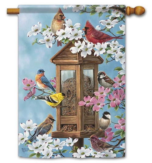"""Joys Of Spring House Flag - 28"""" x 40"""" - Flag Trends - 2 Sided Message"""