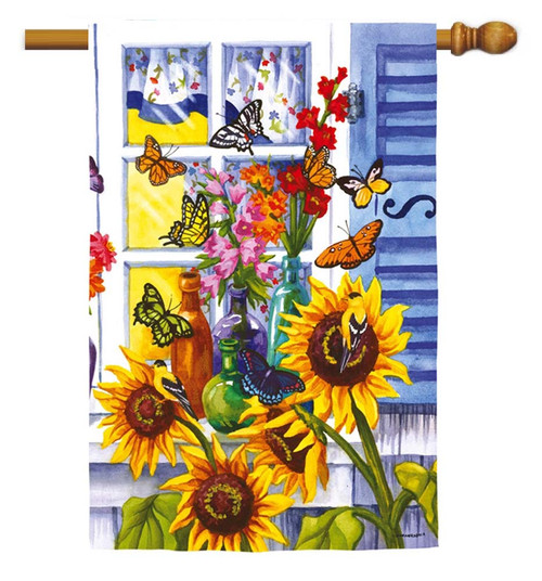 "Butterfly Window Decorative House Flag - 29"" x 43"""
