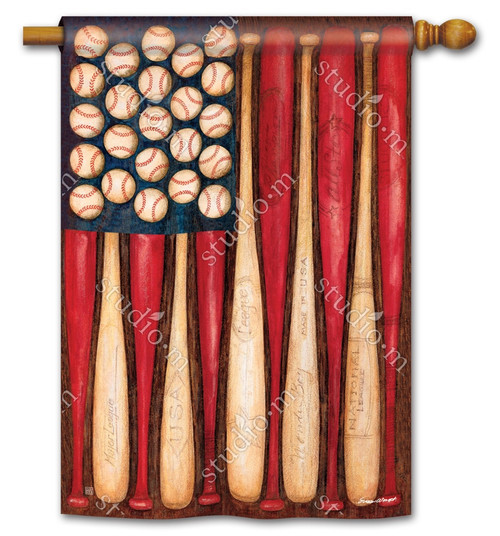 "Baseball Season Summer House Flag - 28"" x 40"" - BreezeArt"