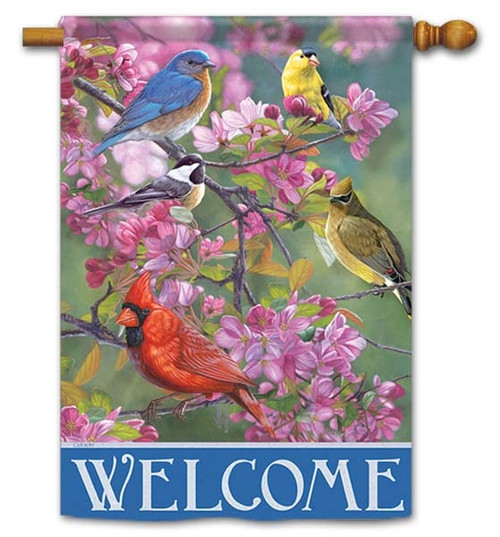 """Winged Gathering House Flag - 28"""" x 40"""" - Flag Trends - 2 Sided Message"""
