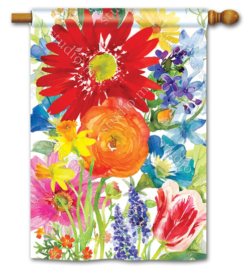 "Splash of Color Summer House Flag - 28"" x 40"" - BreezeArt"