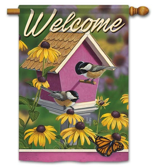 "Chickadee House House Flag - 28"" x 40"" - Flag Trends - 2 Sided Message"