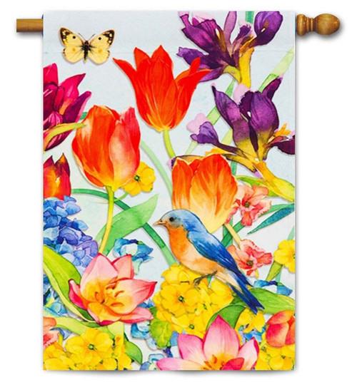 """Spring Garden Decorative House Flag - 29"""" x 43"""" - Evergreen"""