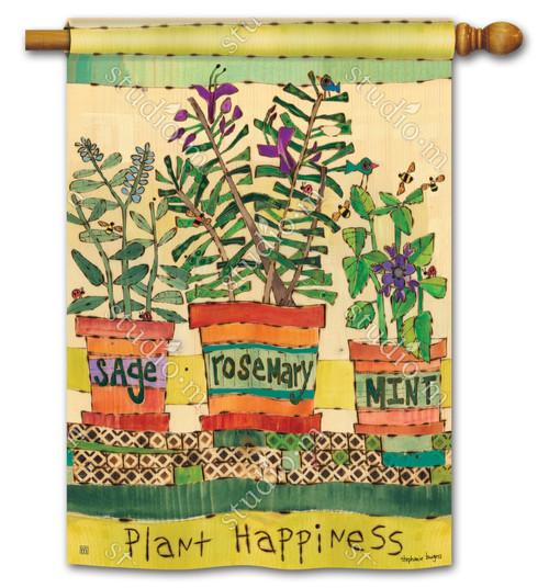 """Herb Garden Summer House Flag - 28"""" x 40"""" - 2 Sided Message - BreezeArt"""