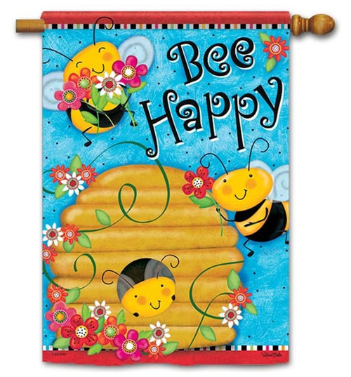 "Busy Buzzin' House Flag - 28"" x 40"" - Flag Trends - 2 Sided Message"