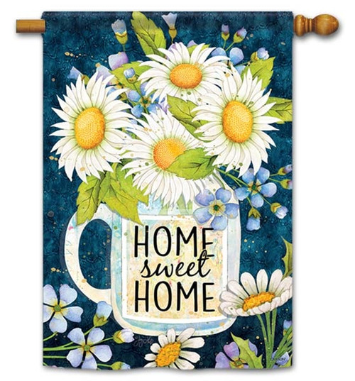 "Home Sweet Home Jar House Flag - 28"" x 40"" - Flag Trends - 2 Sided Message"
