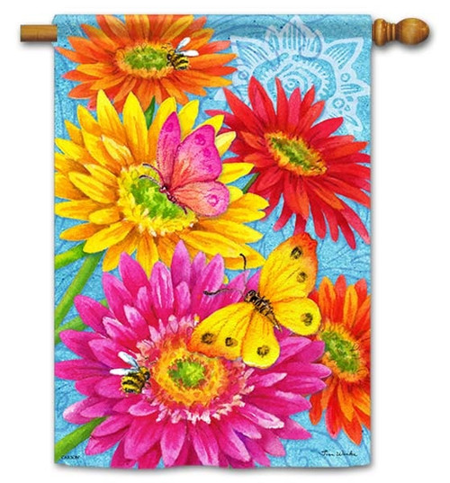 "Daisy Delight House Flag - 28"" x 40"" - Flag Trends - 2 Sided Message"