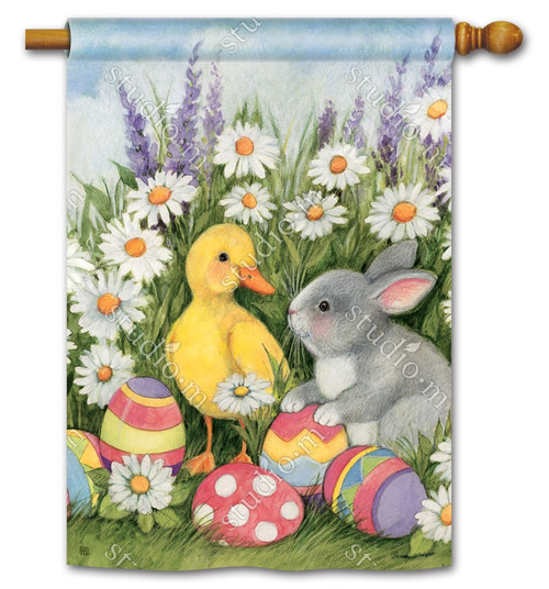 "Easter Babies Easter House Flag - 28"" x 40"" - BreezeArt"