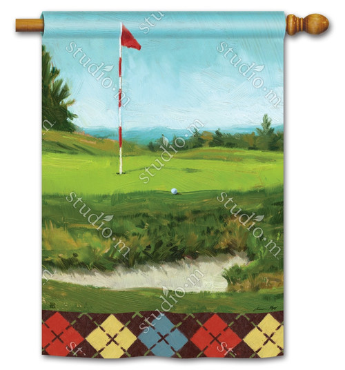 "On the Green Summer House Flag - 28"" x 40"" - BreezeArt"
