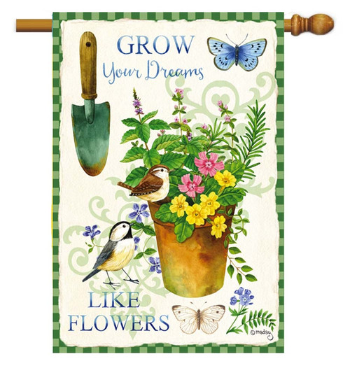 "Herb Garden Decorative House Flag - 29"" x 43"" - 2 Sided Message"