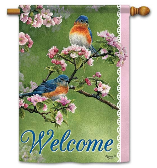 "Springtime House Flag - 28"" x 40"" - Flag Trends - 2 Sided Message"