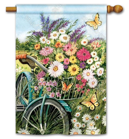 "Morning Ride Summer House Flag - 28"" x 40"" - BreezeArt"