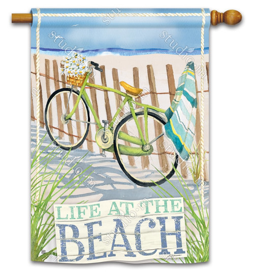 "Beach Trail Summer House Flag - 28"" x 40"" - BreezeArt"