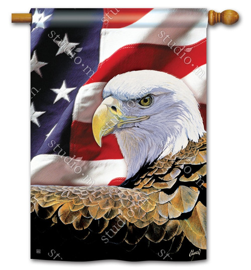 "Spirit of Freedom Patriotic House Flag - 28"" x 40"" - BreezeArt"