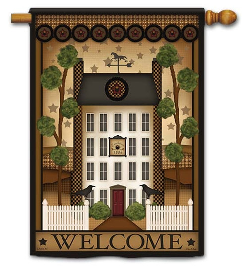 "White House Welcome House Flag - 28"" x 40"" - Flag Trends - 2 Sided Message"
