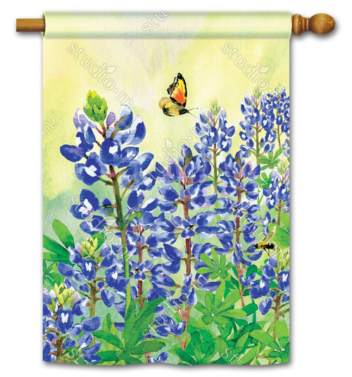 "Bluebonnet Dream Summer House Flag - 28"" x 40"" - BreezeArt"