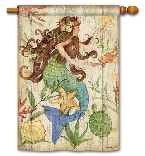 "Mermaid Summer House Flag - 28"" x 40"" - BreezeArt"