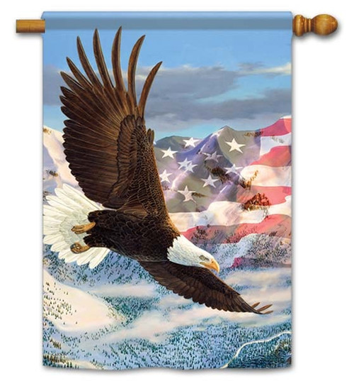 "Height Of Freedom House Flag - 28"" x 40"" - Flag Trends - 2 Sided Message"