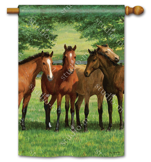 "Grazing Time Summer House Flag - 28"" x 40"" - BreezeArt"