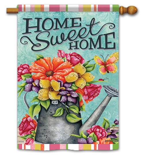 "Bountiful Blooms House Flag - 28"" x 40"" - Flag Trends - 2 Sided Message"
